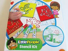 Fisher-Price Little People Stencil Kit Create a Puzzle Draw Toys 3-5 yrs