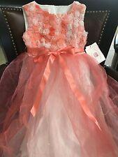 MARMELLATA LITTLE GIRLS KIDS PAGENT DRESS BALL WEDDING ROSE size 6 new 69.95