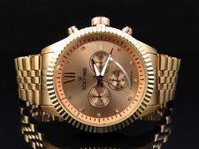 Mens Rose Gold 45MM Jubilee Bezel Diamond Watch from Icetime Jubilee-R (.10 Ct)