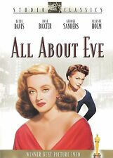 All About Eve ~ Anne Baxter Bette Davis George Sanders ~ Dvd B&W ~ Free Shipping