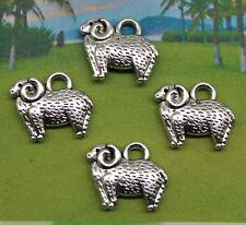 Free shipping 20pcs Retro style Cute little sheep alloy charms pendants 11*13mm