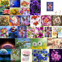 Full Drill Flowers Art 5D Diamond Painting Cross Stitch Embroidery Decor Kits