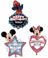 """PERSONALISED Giant 34""""X24"""" SPIDERMAN MICKEY or MINNIE MOUSE Foil Helium BALLOON"""