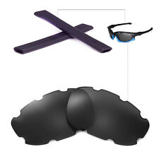 New Walleva Polarized Vented Black Lenses Black Earsocks 4 Oakley Split Jacket