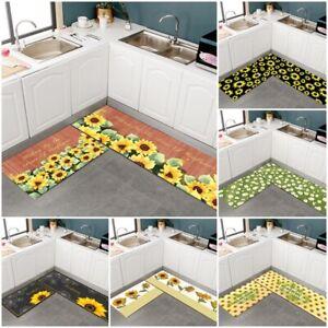 2PCS Non-Slip Kitchen Floor Mat Carpet Rug Bathroom Door Pad Waterproof Home AU