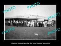 OLD LARGE HISTORIC PHOTO OF THE KANOWNA HOTEL WESTERN AUSTRALIA c1900