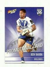 2012 NRL SELECT CHAMPIONS CANTERBURY BULLDOGS BEN BARBA PROMO CARD FREE POST