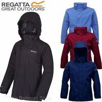 REGATTA GREENHILL HOODED WATERPROOF KIDS RAIN COAT JACKET BOYS GIRLS AGE 3-12YRS