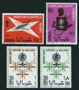 Somalia 263-C86,MNH-yellowish.Mi 425-428. WHO drive to eradicate malaria,1962.