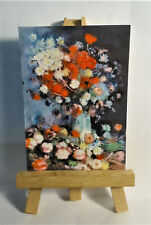 Vase of Flowers 1886 ACEO Original PAINTING by Ray Dicken a Vincent van Gogh