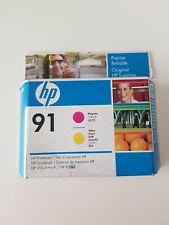Genuine Unused & Sealed HP 91 Ink Cartridge Printhead - Magenta & Yellow C9461AE
