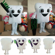 Tooth Mascot Costume Dental Care Adult Size Fancy Dress Party Street Outfit New