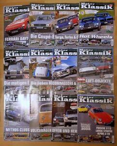 Motor Klassik Jahrgang 2008 komplett Hefte 1-12 Zeitschrift Automobile Oldtimer