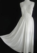 Vtg Olga Intimate Night Gown Ivory/Cream Tone Size S/M AnkleLength