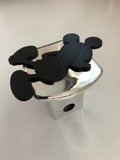 Mickey Mouse standing in 3D  -2 inch Trail Hitch Cover Chrome with Black  - Love