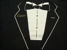 Tuxedo Fake Tux Suit Cursive punk rock tour T Shirt L