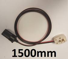 1500mm 12V 2 Pin Plug Adaptor To Female Cigarette Socket 150cm Caravan Motorhome