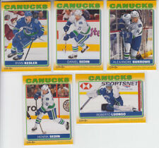 12/13 OPC Vancouver Canucks Sticker 5 card Set Burrows Sedin Luongo Kesler Sedin