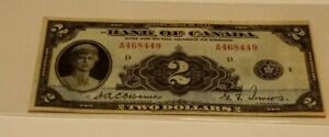 1935 $2.00 Bank Of Canada ENGLISH VERSION! RARE AND SELDOM SEEN! NO RESERVE!