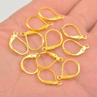 Wholesale Lever Back Earring Findings 18K GOLD PLATED Loo 0083 French Ear Clip