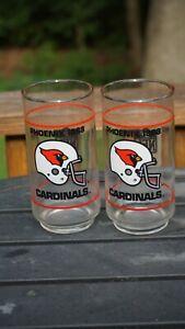 2 Vintage tall Phoenix Cardinal Glasses