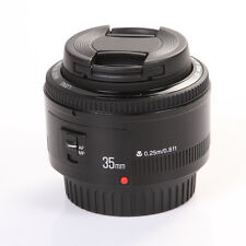 Yongnuo YN35mm F2 Wide Angle Auto Focus AF MF Lens+Cap fr Canon EF EOS Camera