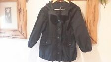 H&M Black Cotton Summer Jacket Size S UK 8/10