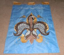 GORGEOUS VINTAGE FLEUR DE LIS LOUISIANA PELICAN PRESERVE AND PROTECT FLAG BANNER