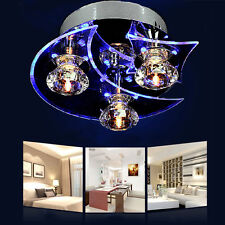 Retro Crystal Chandelier Ceiling Moon Star LED Lamp Dining Room Hall Bedroom Kid
