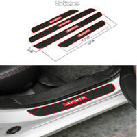 4x Self Adhesive Waterproof Sports Style Anti-scratch Car Door Scuff Sill Cover