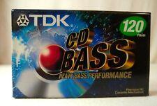 TDK CD Heavy Bass Power 120 Minute Blank Audio Cassette Tapes New Single NIP