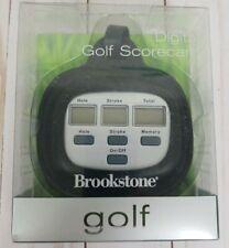 BROOKSTONE Electronic Golf Scorecard (Easy Digital Score Card for Golfer) NEW