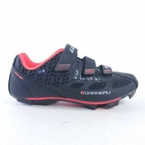 Louis Garneau Womens Multi Airflex Cycling Shoes Black Adjustable Hook Loop 7.5M