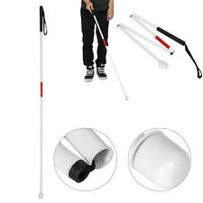 Visually Impaired White Blind Walking Stick Folding Aluminum Cane 127cm long zy