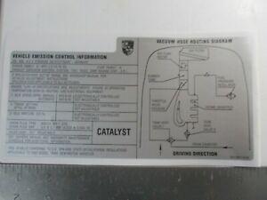 PORSCHE 968 ENGINE BAY EMISIONS VACUUM DATA DECAL NEW GENUINE PORSCHE 1992 ONLY
