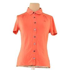 Burberry Shirts Orange Black Woman Authentic Used L2411