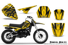 YAMAHA PW80 CREATORX GRAPHICS KIT DECALS STICKERS TRIBAL BOLTS YELLOW