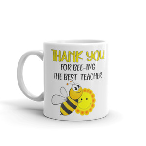 Teacher Mug, Personalised Teacher Mug Cup, Teacher Gift,  Thank you for Bee-ing
