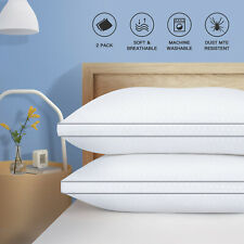 2 Pack White Bed Pillows Standard Queen King Size Us Stock