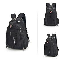 Black Swiss Men's Shoulder Bag Backpack Laptop Bag Casual Travel Bag Waterproof