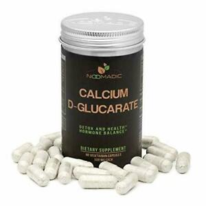 Calcium D-Glucarate (CDG), 60 Capsules | 500mg, Regulates Excess Estrogen...