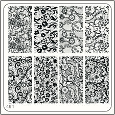 MoYou Square Image Plate 491 Vintage Style, Lace, Art Stamping Template Stencil