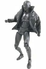 SU-JKS-BK: 1/12 Small Black Wired Leather Jacket for SHF, Figma (No figure)