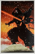 Star Wars: Force Awakens KYLO REN Print HAND SIGNED by Artist Damon Bowie w COA
