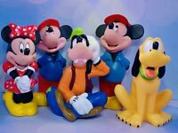 VTG Lot of 5 Disney Characters Baby Rubber Bath Toy EUC Collectible Figures Free