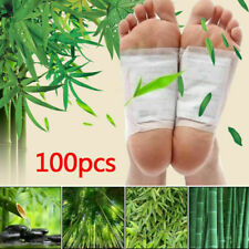 100X Fusspflaster Entgiftung Bambus Foot Pads Vitalpflaster Entschlackung Detox