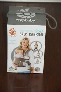 Ergo Baby Four Position 360 Carrier Taupe & Lilac 4 Positions Ergobaby