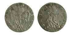 s415_1) GENOVA  REPUBBLICA 3° FASE 1637/1797 1 LIRA 1746 MIR 323
