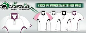 HENSELITE LADIES CHOICE OF CHAMPIONS - BOWLS POLO SHIRT/BLOUSE - SALE - XL ONLY