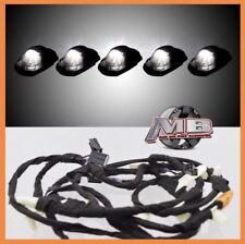 Smoked WHITE LED cab roof lights 5pc 17-18 Ford F250 F350 super duty with Wiring